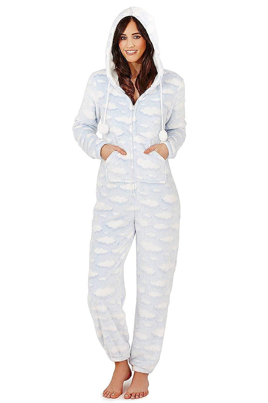 Loungeable - Pijama para mujer, diseño de nubes azul Cloud - Onesie Talla L