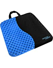 Comfort Gel Chair Seat Cushion - Provide Relief for Lower Back ,Coccyx,Sciatica,Tailbone or Hip Pain - Airflow Orthopedic Design Seat Pad for Wheelchair,Car,Office Chairs,Prevent Sweaty Bottom with Black Cover