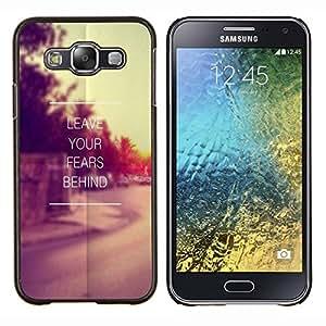 TECHCASE---Cubierta de la caja de protección para la piel dura ** Samsung Galaxy E5 E500 ** --Los temores dejar atrás Sunset Vignette
