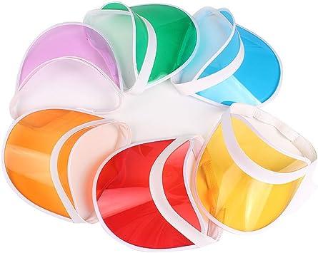 HUPLUE 6 viseras de plástico transparente para el sol, visera de ...