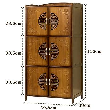 ACZZ Horno de microondas de bambú/Rejilla de horno Vintage Tea ...