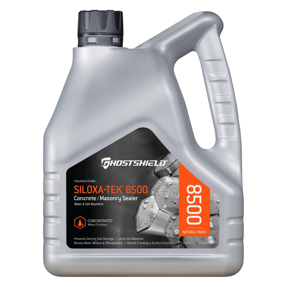 Siloxa-Tek 8500 Ultra Concentrate - 1 Gallon Penetrating Concrete Sealer, Water and Salt Repellent
