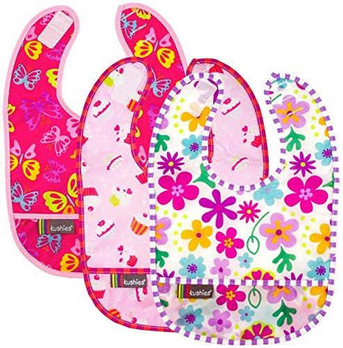 Kushies Taffeta Waterproof Bib Pink product image