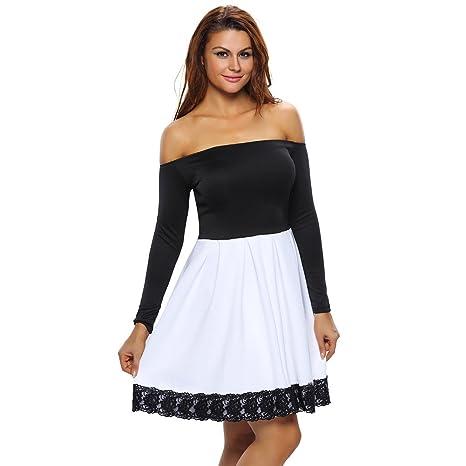 finest selection 6cf6a 8ecf7 WJS-Abbigliamento donna bianco e nero vestito stampato e ...