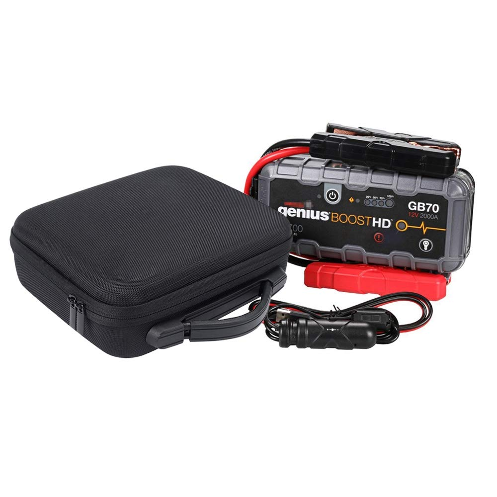 SODIAL Eva Hard Storage Case for Noco Genius Boost Hd Gb70 2000 Amp 12V Ultrasafe Lithium Jump Starter Travel Carrying Pouch Cover Bag