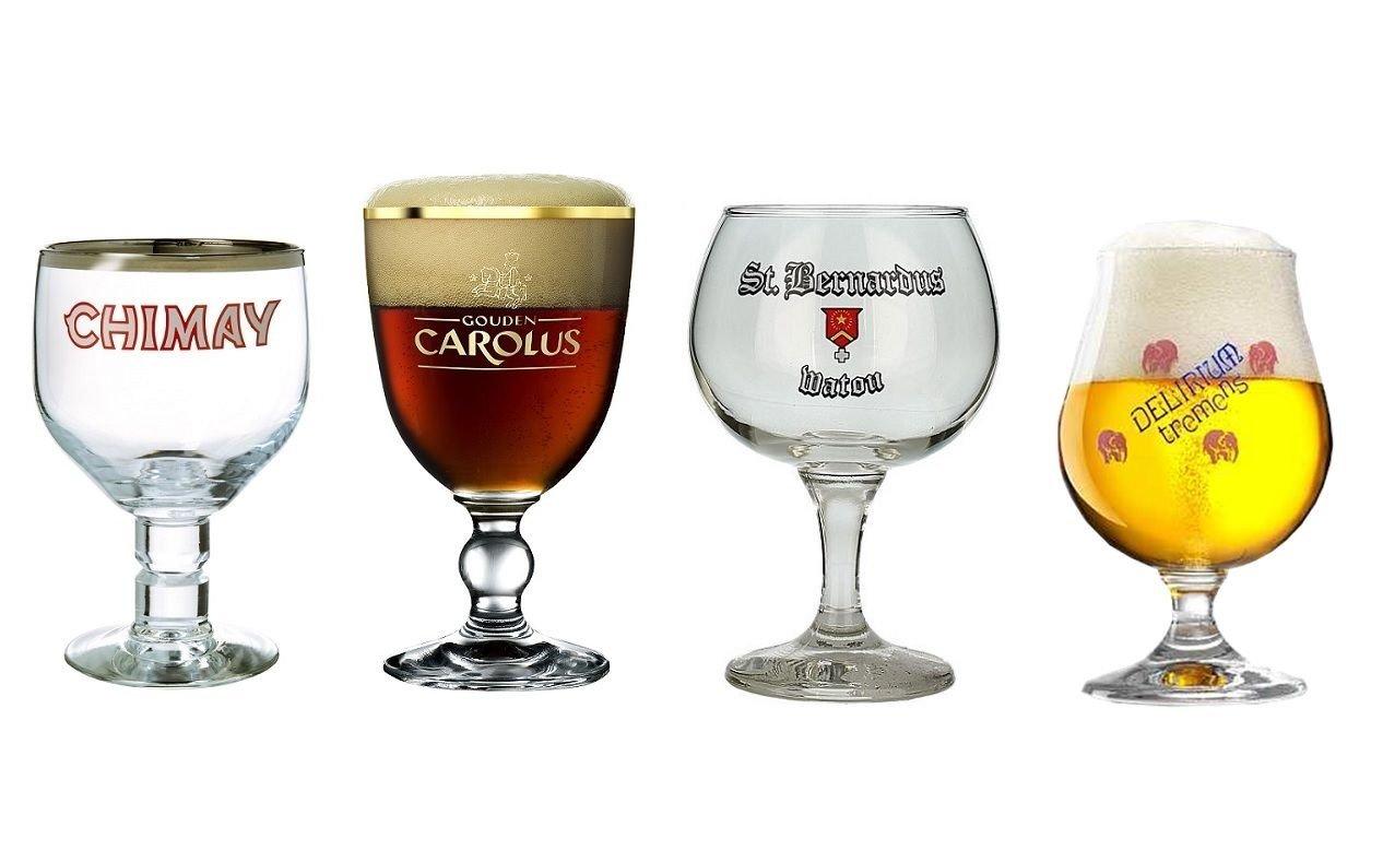 Belgian Beer Glass Chalice Sampler Set 4-piece