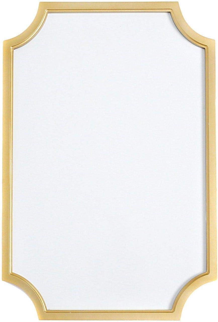 "Teresa Collins, Gold Dry Erase Magnet Board, Wall Art Decor - Scallop Frame, 16"" x 24"""