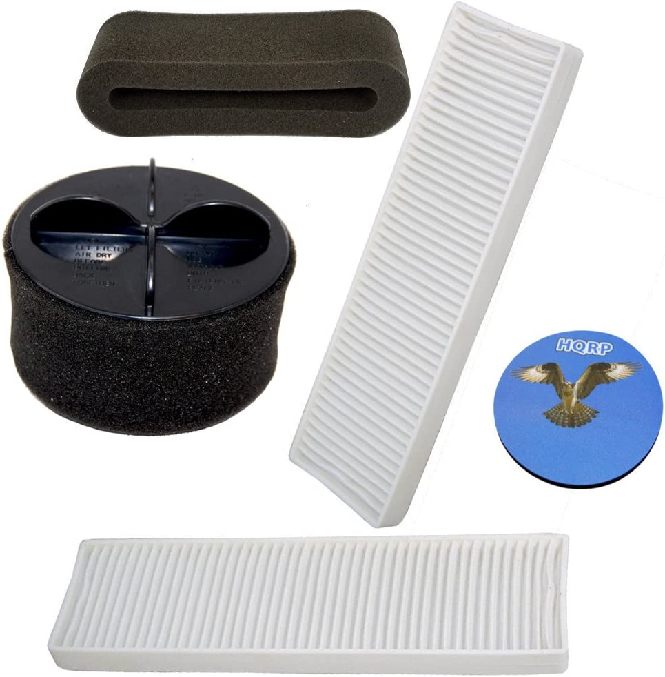 HQRP Filter Kit Compatible with Bissell CleanView II Bagless Vacuum 20Q9 (Base), 73G8, 3574 Cleaner Plus Coaster