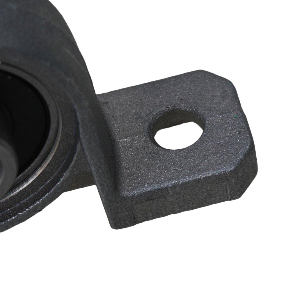 Bqlzr grigio in lega di zinco 8/mm di diametro cuscinetto a sfere Pillow Block a sostegno macchina corpo self-adjust confezione da 2