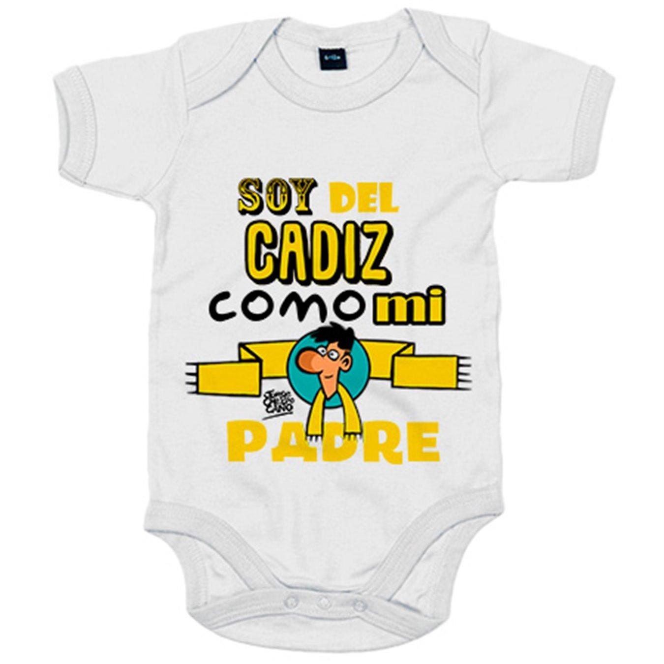 Body bebé soy del Cadiz como mi padre Jorge Crespo Cano - Blanco, 6-12 meses: Amazon.es: Bebé
