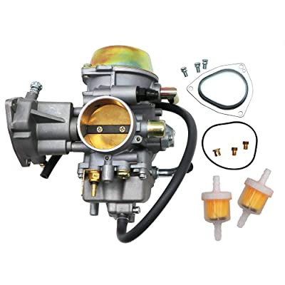 KIPA Carburetor For Yamaha RHINO 660 YFM660 YXR660FA YXR660FSE YXR660FH YXR660 Hunter UTV ATV 2004 2005 2006 2007 Replace OEM part number 5KM-14901-00-00 2Pcs New Main jets & 2Pcs Fuel Filters: Automotive