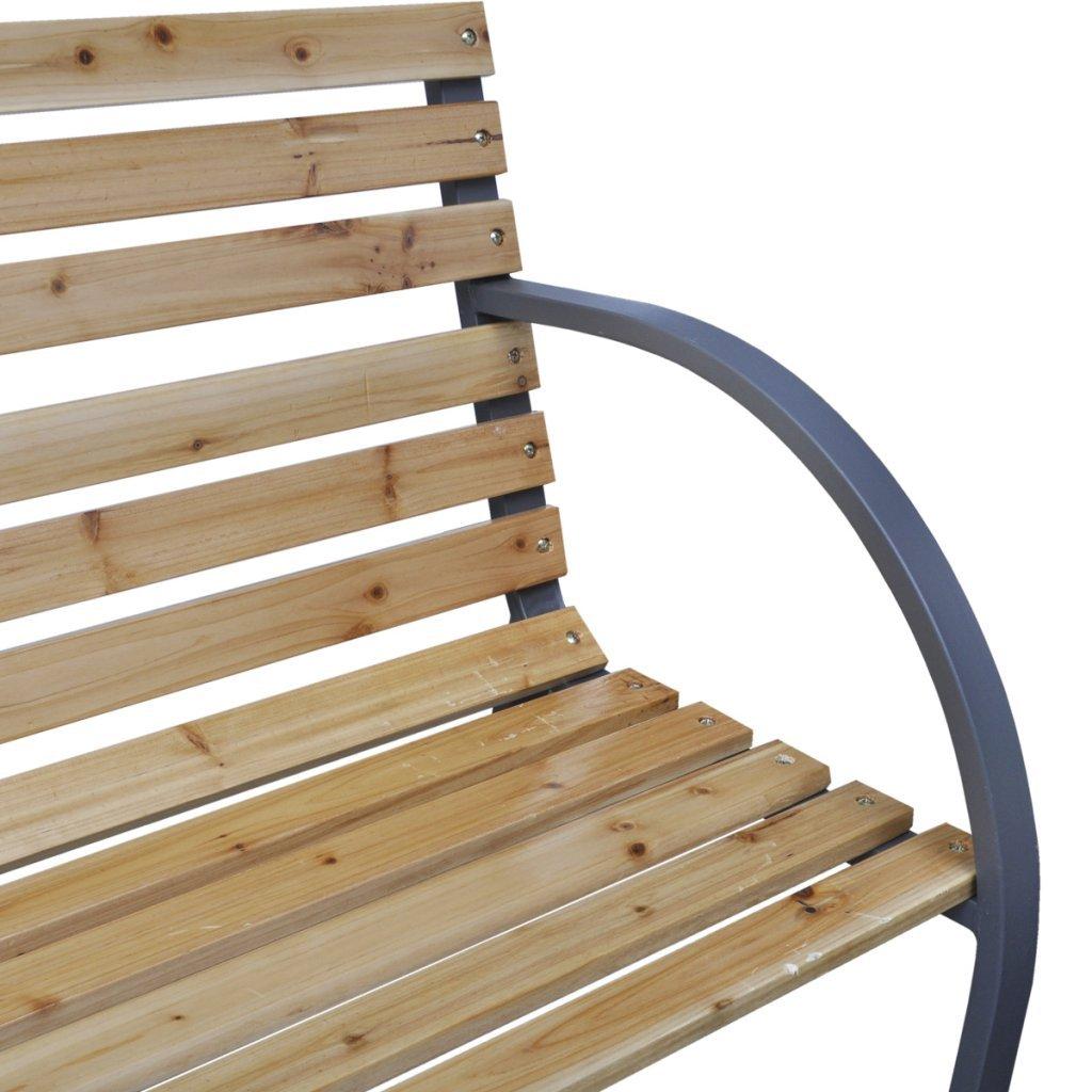 Amazon.com : Anself Patio Garden Bench Park Yard Outdoor Furniture ...