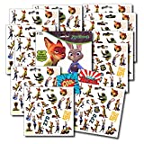 Zootopia Stickers Party Favors ~ Set of 2 Sticker Packs ~ 12 Sheets Over 240 Stickers plus Bonus Reward Stickers! Nick Wilde, Finnick, Judy Hopps, Mr. Big, and More!