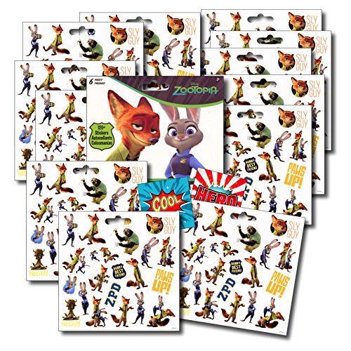 Zootopia Stickers Favors Sticker Finnick