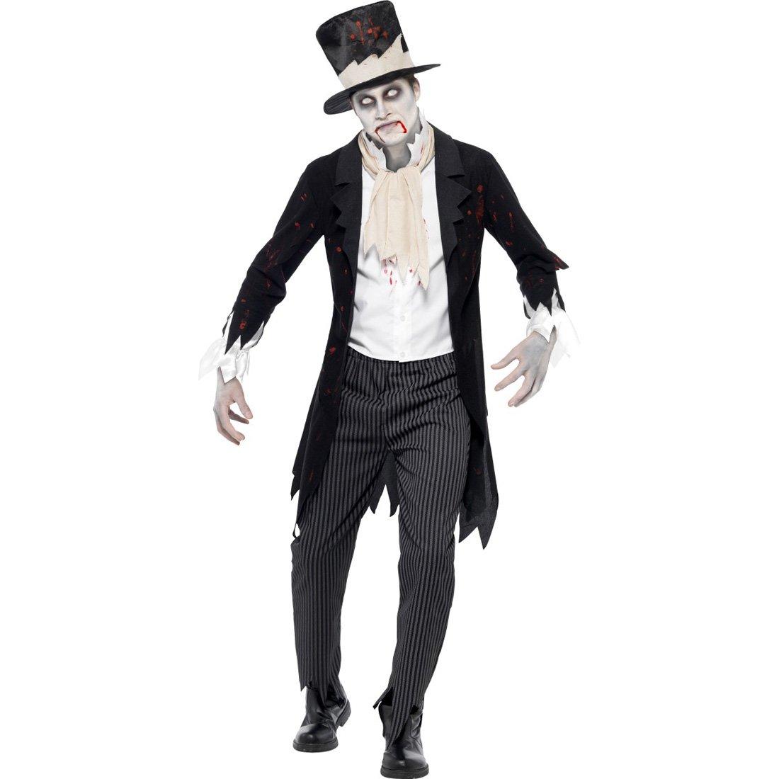Amakando Zombiekostüm Bräutigam Geisterbräutigam Kostüm M 48/50 Halloweenkostüm Schlossherr Horrorkostüm Edelmann Gothic Kostüm Herrenkostüm Geisterkostüm Halloweenparty