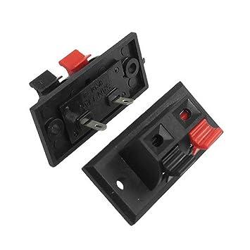TOOGOO10 Stueck Einzelne Zeile Rot & Schwarz 2-Pin: Amazon.de ...