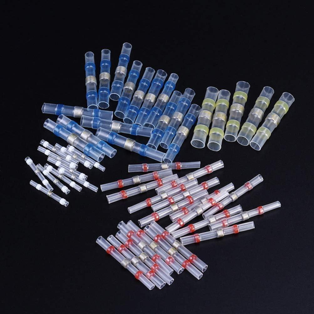 Connecteurs de c/âbles /électriques isol/és et durables Wakauto Lot de 50 connecteurs de fil de soudure /étanches pour soudure /à soudure Connecteurs de fils de soudure /étanches