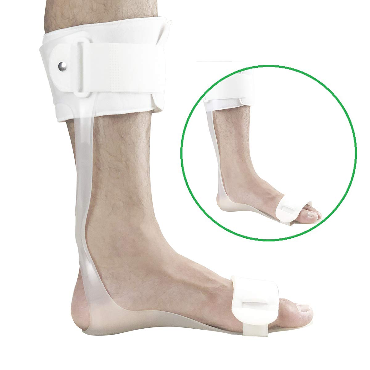 Orthomen Drop Foot Brace - AFO Leaf Spring Splint (M-Right) by Orthomen