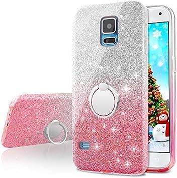 Miss Arts Funda Galaxy S5, Carcasa Brillante Brillo con Soporte ...
