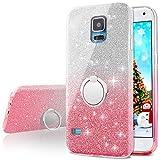 Galaxy S5 Case,Silverback Girls Bling Glitter