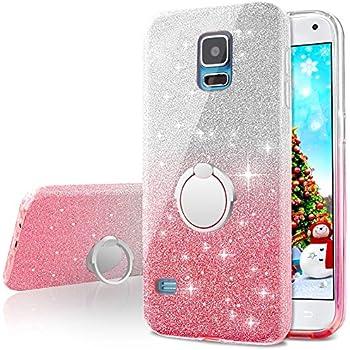 Amazon.com: Galaxy S5 Case w/[Screen Protector Premium Clear ...