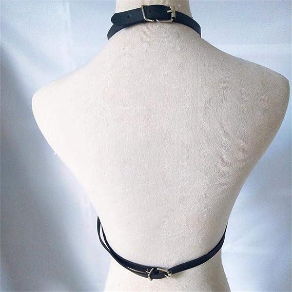 Moda de la correa del arnés de cuerpo Collar de rendimiento punk ...