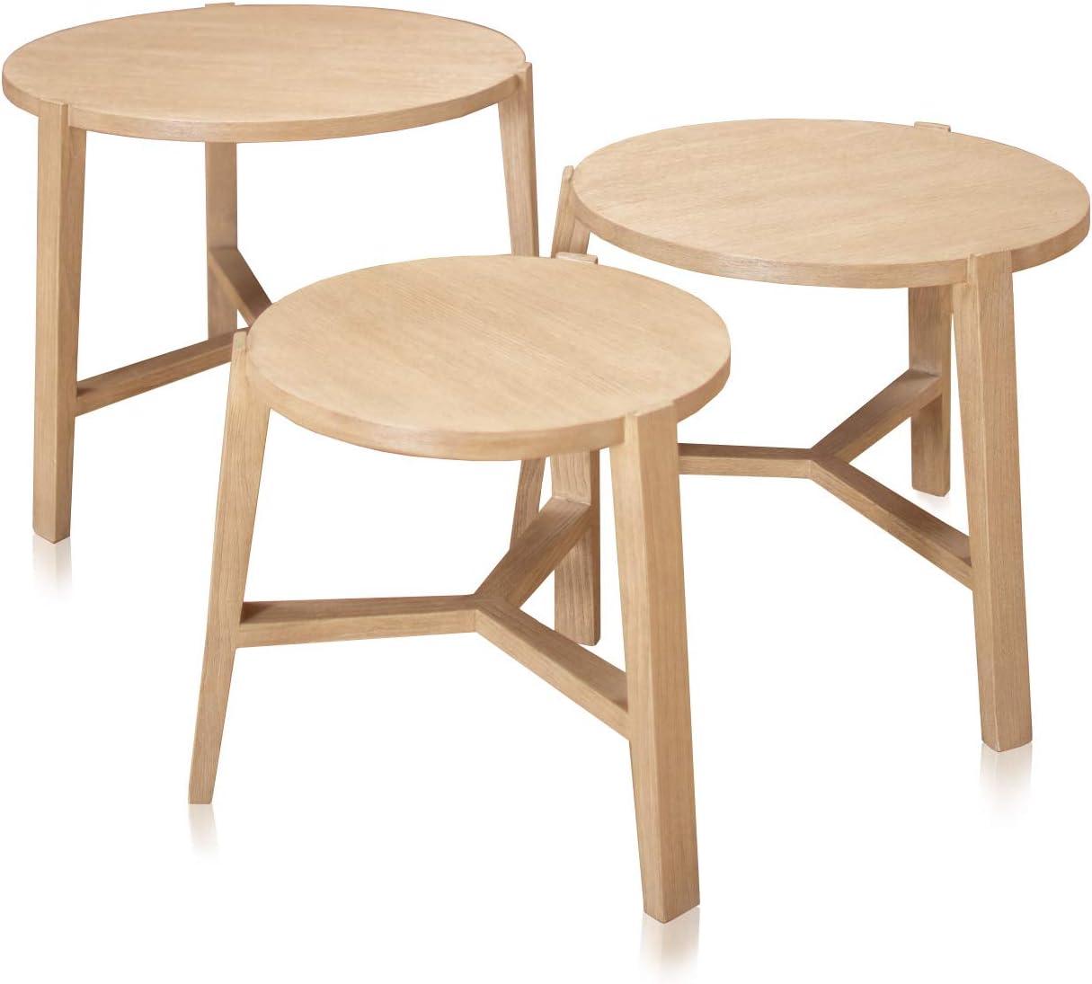Belssia Table de Chevet légère L, Meuble Structure en Bois