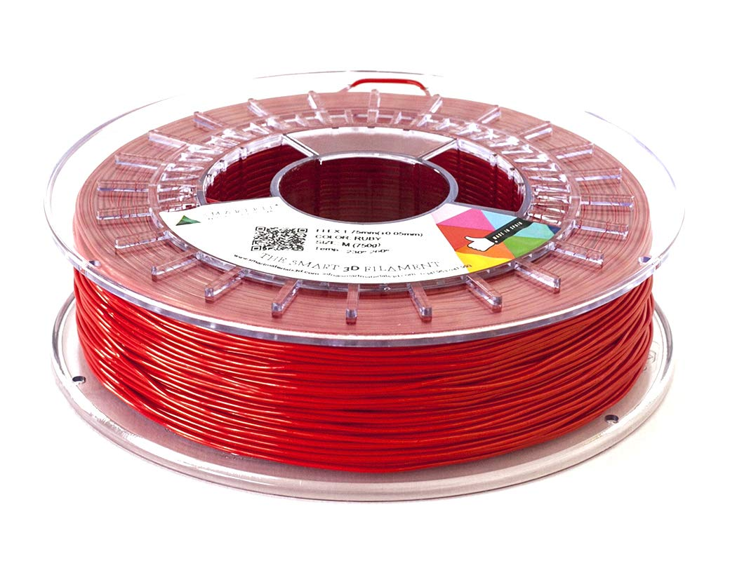 Smarfil FLEX, 1.75mm, Ruby, 330g Filamento para Impresión 3D de ...