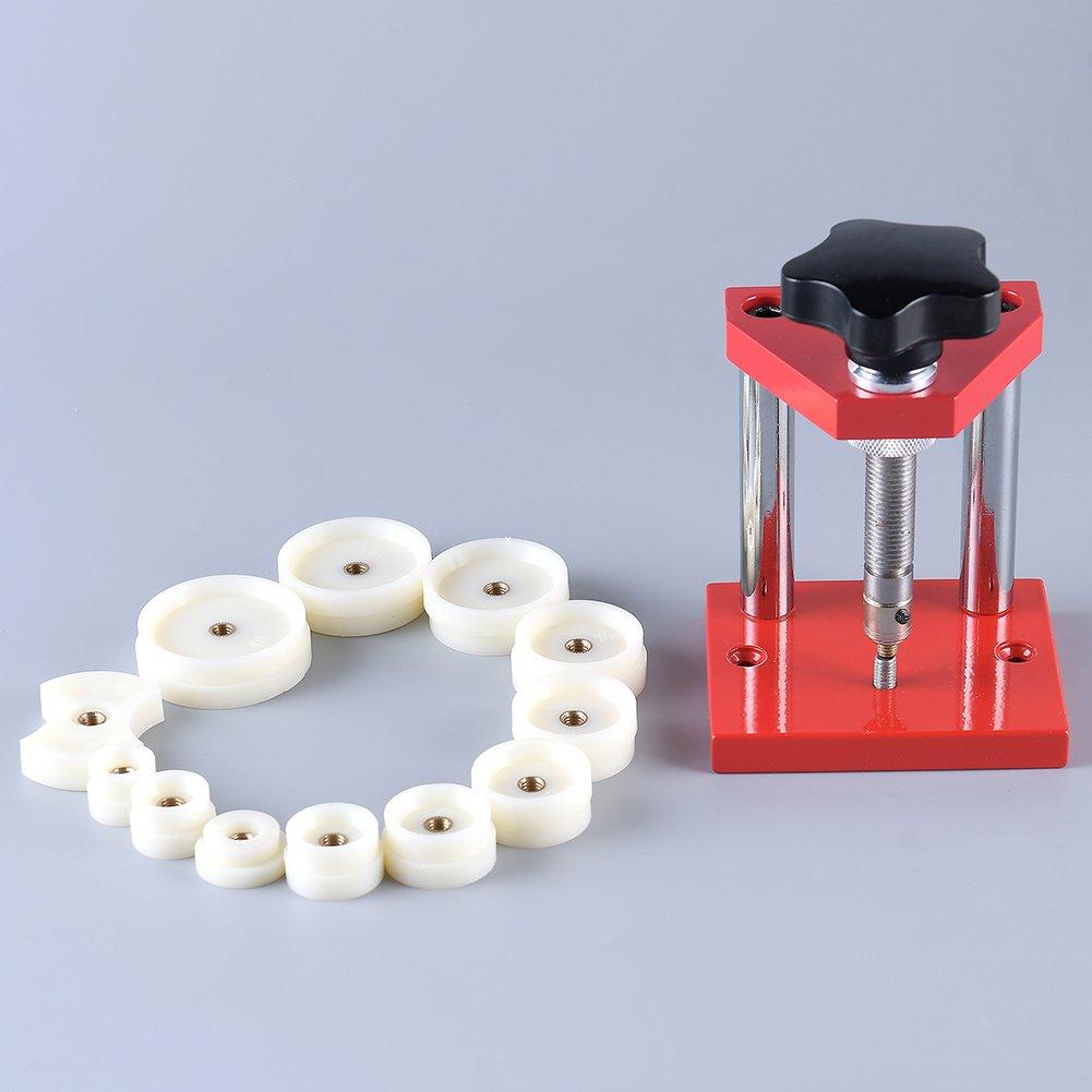 Watch Case Bezel Crystal Press - Watch Back Closer Watch Press Tool with 8-Set Optional Dies