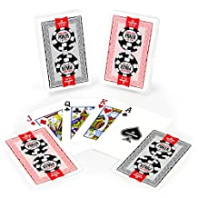 Copag GCOP-1201 Lace 2016 World Series of Poker Plastic Playing Cards, Red/Black, Bridge Narrow Size