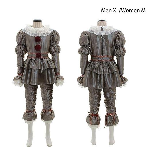 HUVE Disfraz de Joker para Hombre y Mujer, Disfraz de Payaso ...