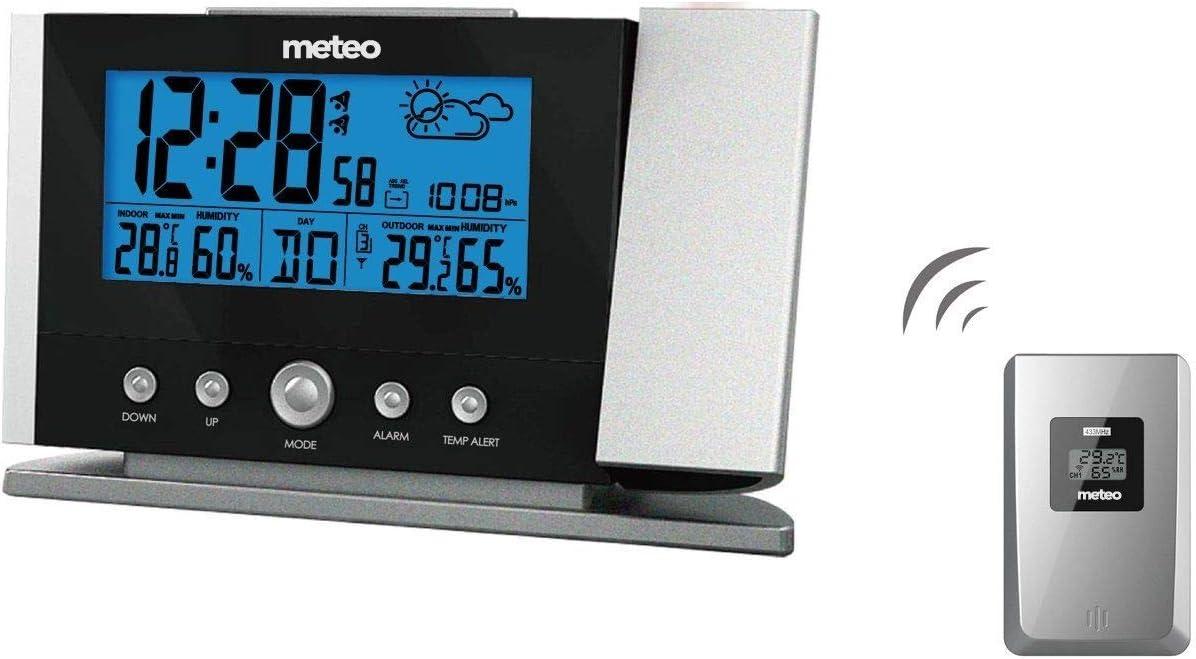 Meteo Estación Meteorológica de Casa con Reloj, Fechador ...