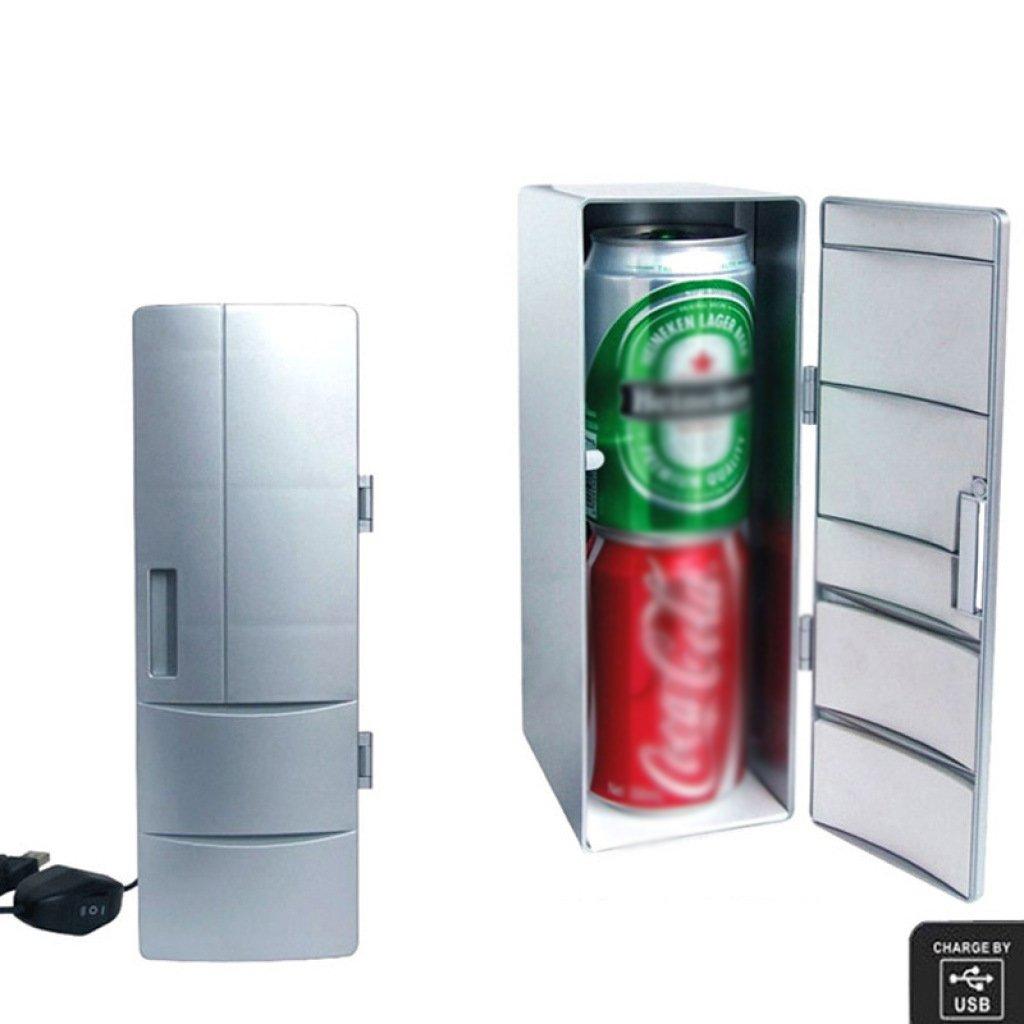 Peaceip Mini USB creative mini fridge mini medicine cosmetics college student bedroom artifact