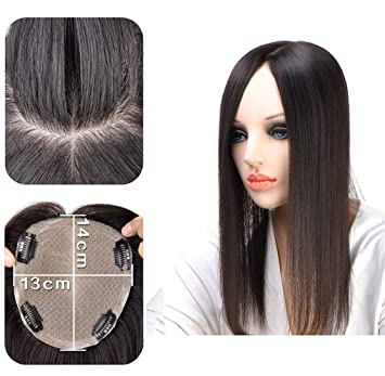 510f19c87d9 Amazon.com : Remy Human Hair Topper Hairpieces for Women, Large 5
