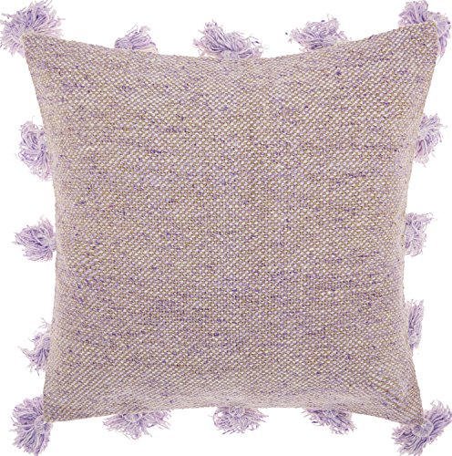 Mina Victory by Nourison DP005 Life Styles Tassel Border Throw Pillow, 18