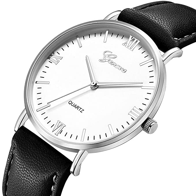 Xmansky Reloj unisex con cinturón de Ginebra, correa clásica retro ...