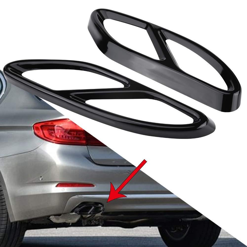 Nikou Auspuffblende Farbe : Silber 1 Paar Auspuffblende Blende Silber f/ür Mercedes Benz GLC C E-Klasse C207 Coupe 14-17