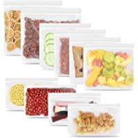 Reusable Food Storage Organisation Bag Food processor, Eco-Friendly Leakproof Ziplock Bags and Extra Thick Freezer Bags…