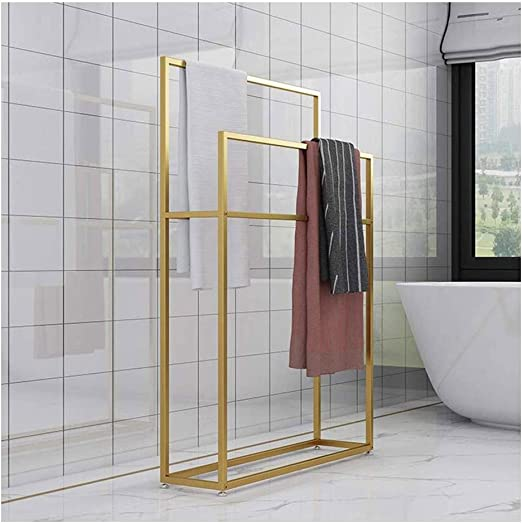 Kitchen Bathroom Organizer Holder Outdoor Pool Towel Rack Freestanding Towel Rail Rack Standing Towel Rack Black85x20x100cm Metal Towel Bar Stand