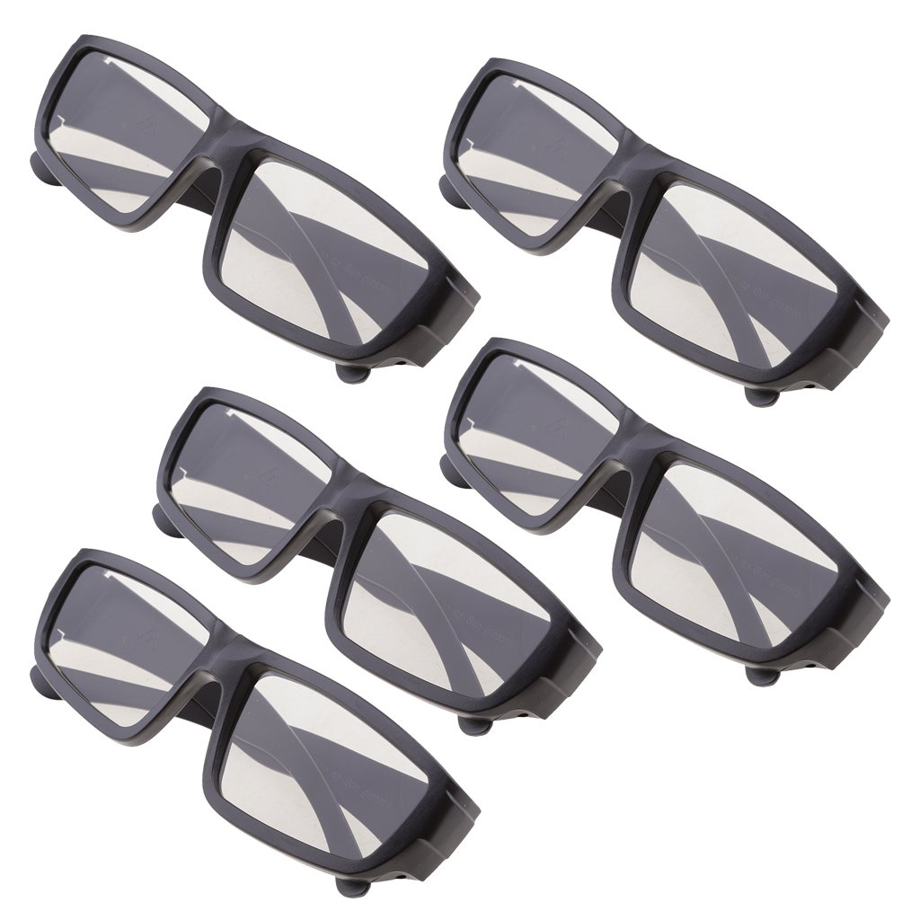 MagiDeal 5 Pairs of Universal Passive 3D Glasses for All Passive 3D TVs Cinema and Projectors Such as for RealD Toshiba Panasonic Sony TVs Monitor Black non-brand
