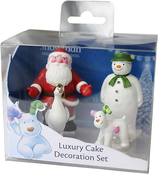 The Snowman /& The Snowdog Father Christmas Cake Decoration Figurine