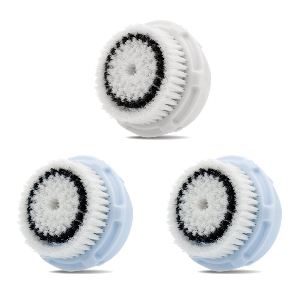 Facial Brush Heads, Greeninsync(TM) Compatible Replacement Facial Cleansing Brush Heads 3Pack for Clarisonic Mia, Alpha Fit, Mia Fit, Mia 2, Mia3, Aria, Smart Profile, Plus and Radiance