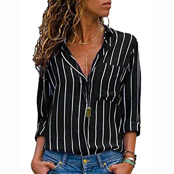 88101207f84 Amazon.com  Clerance Sale! Joint Womens Casual V Neck Striped ...