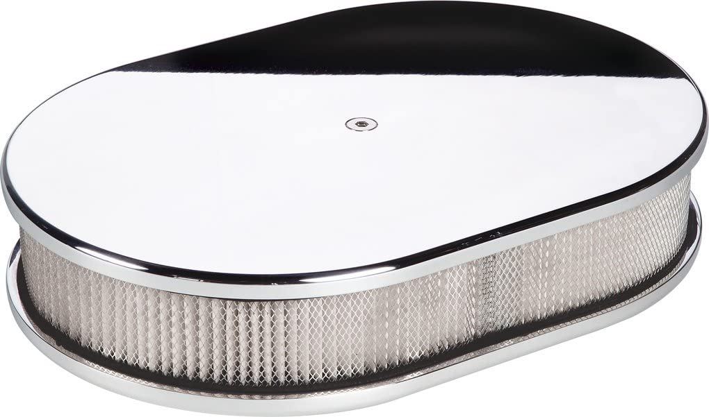 Large Ball Milled Oval Air Cleaner Polished Billet Specialties 15420
