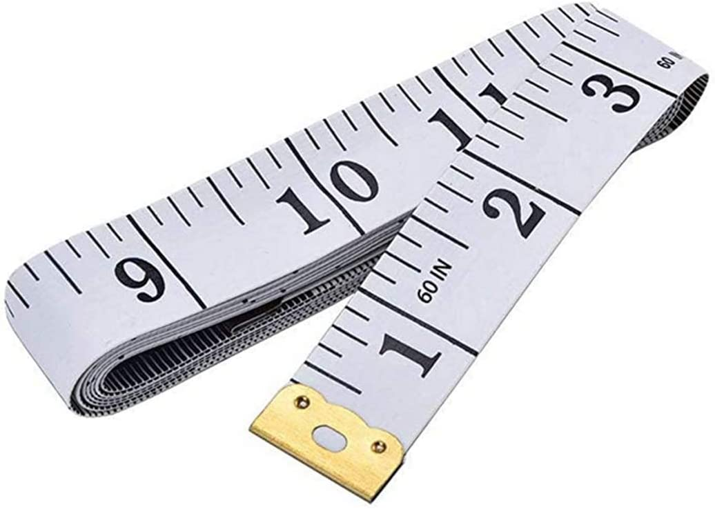 Sewing Tailor Craft Vinyl Ruler with Pins Premium Portable Soft Tape Measure Double Scale Flexible Ruler 60 Inch 150 cm White Medical Body Measurement Tape Body Sewing Ruler for Weight Loss