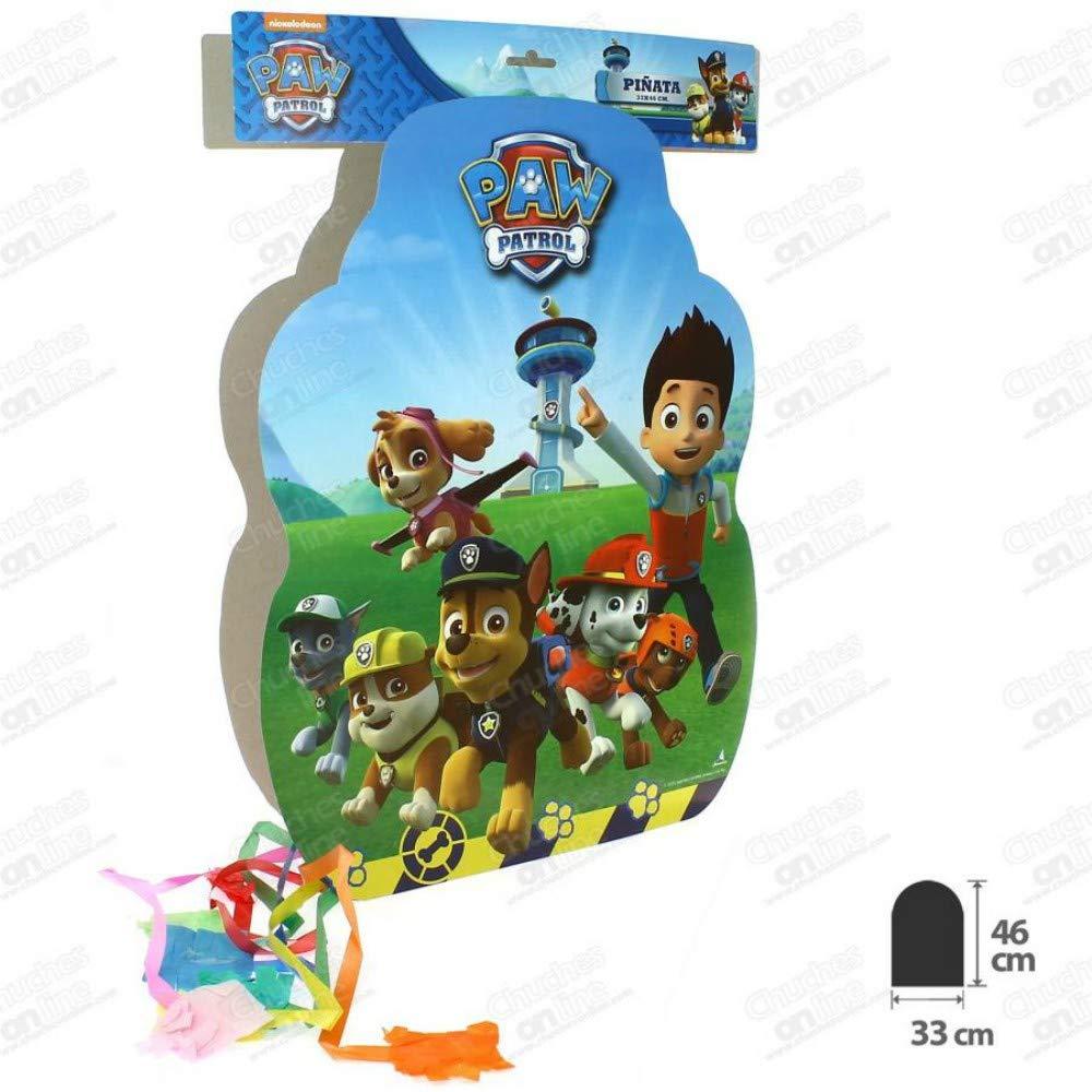 CAPRILO Set de 2 Piñatas Infantiles Decorativas para Cumpleaños Patrulla Canina 33 x 46 cm. Juguetes y Regalos Fiestas de Cumpleaños, Bodas, Bautizos, Comuniones y Eventos. Decoración Hogar. AB