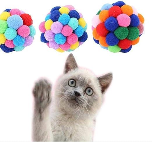 SummerRio Juguete Divertido para Gatos, Pelota Multicolor Que ...