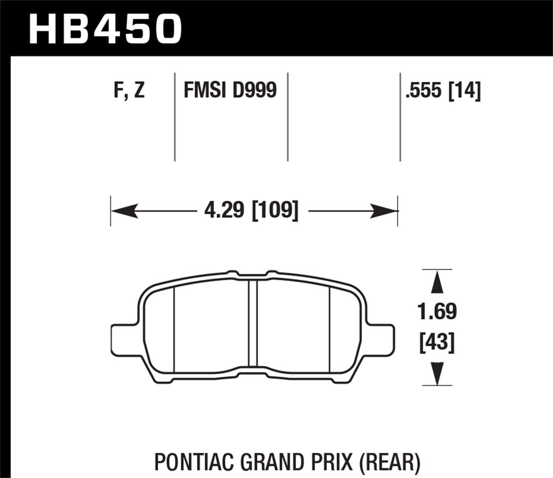 Hawk Performance HB662F.587 HPS Performance Ceramic Brake Pad
