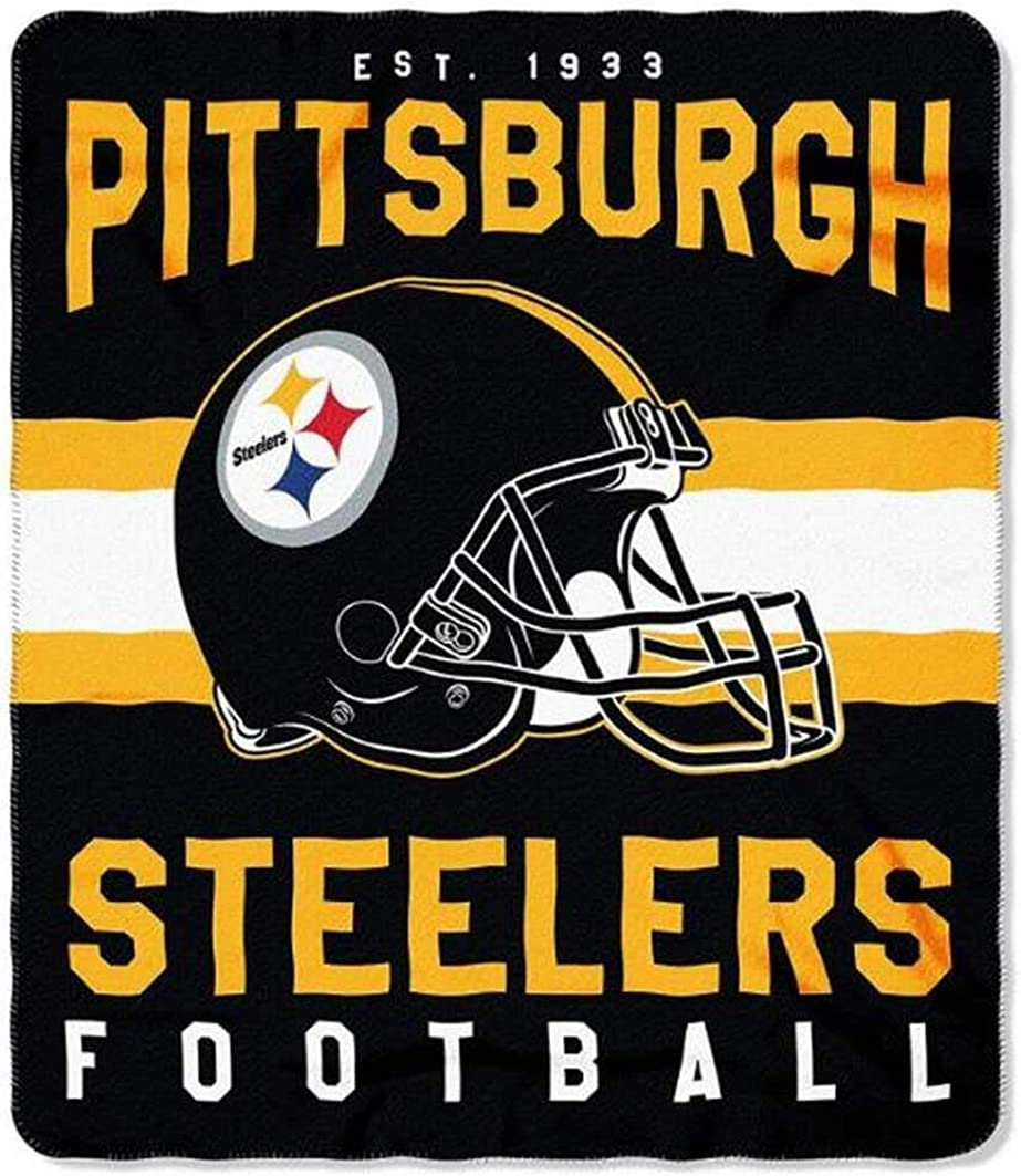 The Northwest Company NFL Pittsburgh Steelers Printed Fleece Throw, 50 x 60-inches