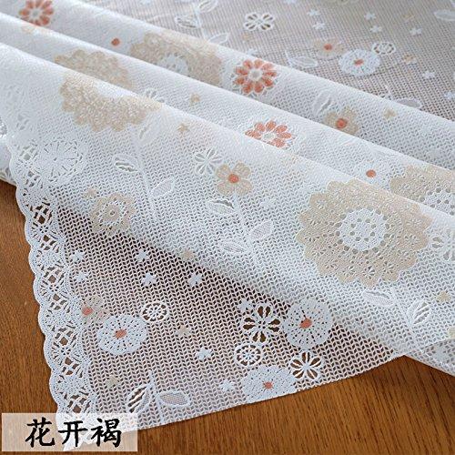 Blooming braun 60X138cm HL-PYL Super dünnen PVC-transparente Tischdecke Wasserdicht und Bügeln Tischdecke, blühende Braun, 60 x 138 cm